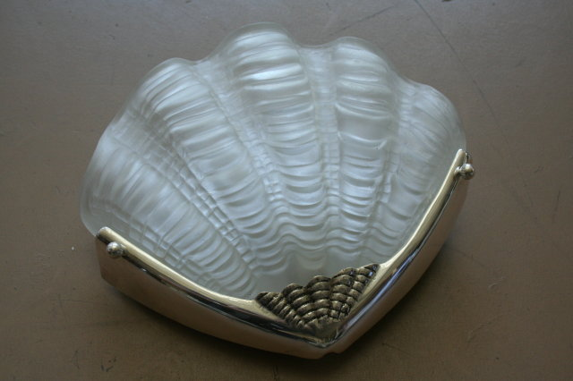 Art Deco Style Shell Wall Sconce
