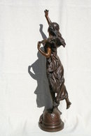 Original Bronze Figurine of an Art Nouveau Lady