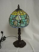 Bronze Tiffany Style Lamp/Mushroom Shade
