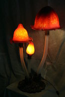 Giant Mushroom Galle Style Accent Table Lamp