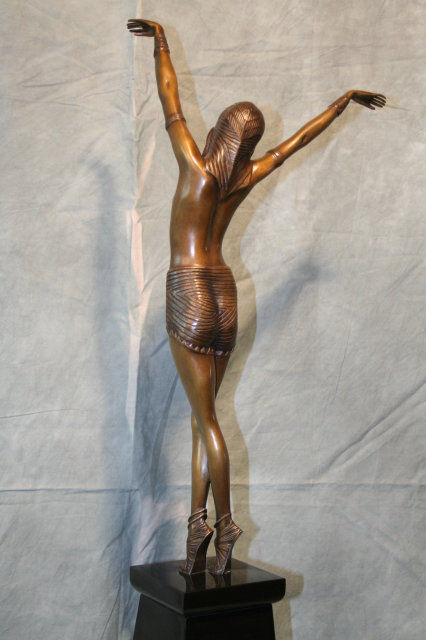 Art Deco D.H. Chiparus Bronze Sculpture Egyptian Dancer