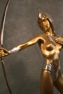 Bronze Figurine of Diana The Archer