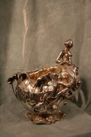 Silvered Pewter Figural Champane Bucket Early