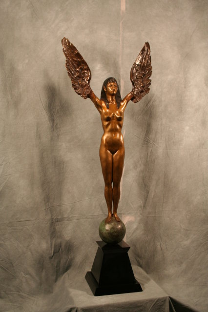 Art Deco Bronze Figurine in Egyptian Style