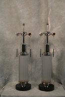 Art Deco Glass Rod Table Lamp