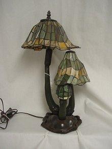 Bronze Tiffany Style Lamp/3 Mushroom