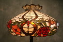 Antique 20th Century Leaded Glass Floor Lamp