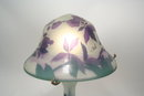 Galle Style Table Lamp Cut Glass Floral Pattern