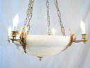 Empire Swan's Heads Alabaster Dore Chandelier Lighting