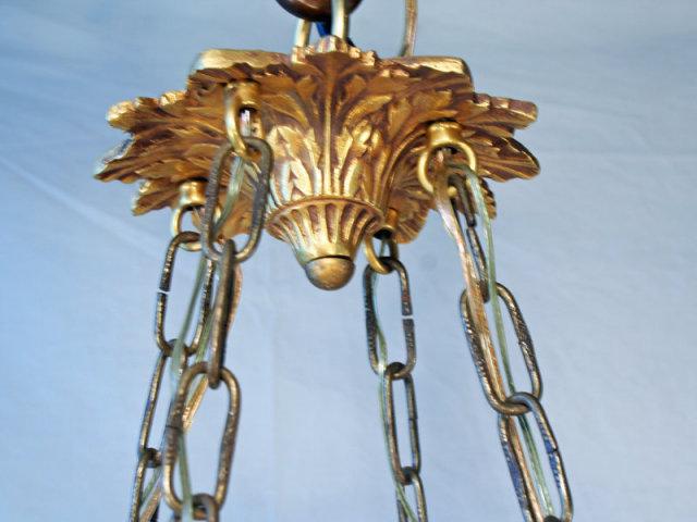 Empire Swan's Heads Alabaster Dore Chandelier Lighting