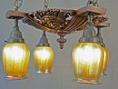 Tiffany Style Art Glass Chandelier