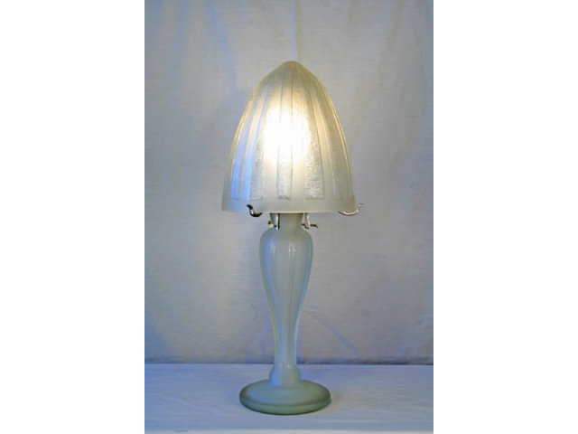 Art Deco Acid Etched Table Lamp in the style of Daum