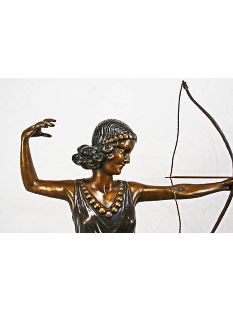 Art Deco Bronze Figurine Diana by Menneville