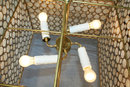 Capiz Shell Square Custom Chandelier