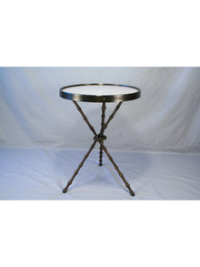 Original Bronze Bamboo Design Side Table