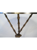 Original Bronze Bamboo Design Side Table
