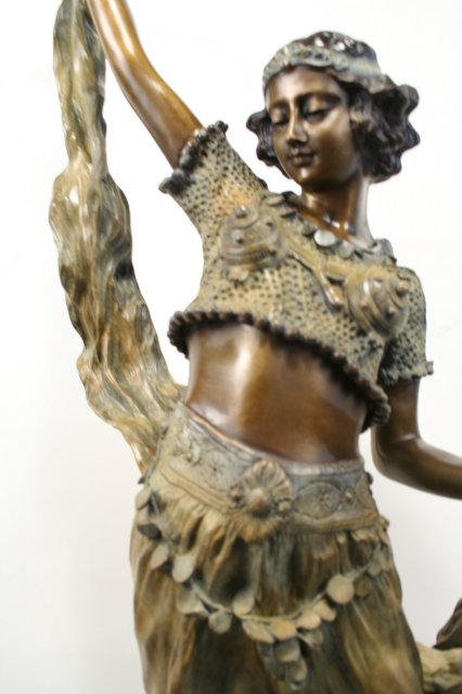 Art Deco Bronze Figurine Eastern Dancer