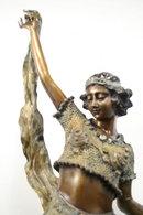 Art Deco Bronze Figurine Eastern Dancer