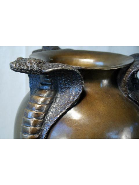 Jean Dunand Triple Cobra Vase
