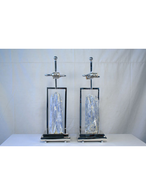 Modern Custom Kyanite Table Lamp