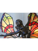 Art Deco Figurine Butterfly Girl Lamp