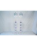 Modern Deco Amethyst & Glass Ball Table Lamp