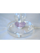Modern Deco Amethyst & Glass Ball Table Lamp