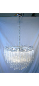 Venini Italian Glass Tube Chandelier