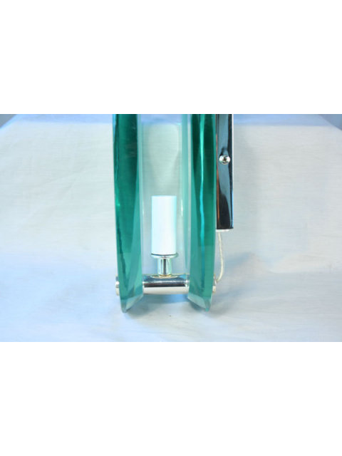 Art Deco/Modern Glass Oval Sconce