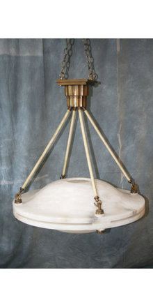 Art Deco Alabaster Chandelier
