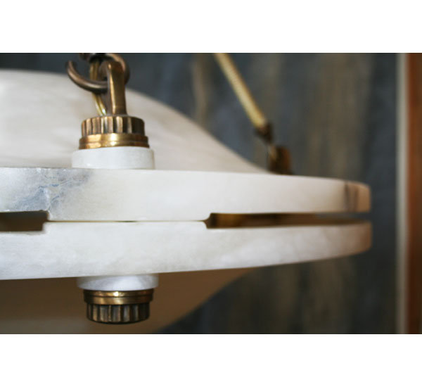 Art Deco Alabaster Chandelier