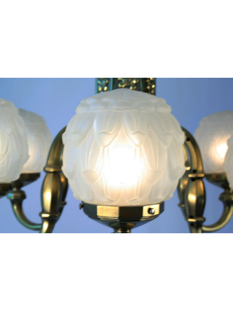 Antique Brass Art Deco Chandelier Lighting