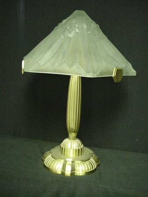 #128 French Art Deco Lamp