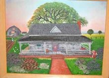 HELEN LAFRANCE/ FRONT PORCH/ SOUTHERN MEMORY PAINTING