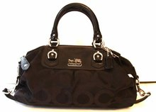 Coach Madison Large Sabrina OP ART Signature Satchel/Handbag