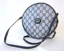 Vintage 1980's Gucci GG Logo Round Canteen Bag