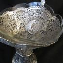 SILVER WEDDING BASKET/ORNATE SWING HANDLE/1890-1920 GERMAN