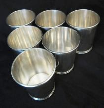 Set of LBJ Julep Cups, Sterling Silver