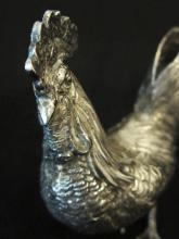 SILVER FIGURAL ROOSTER TABLE ORNAMENT/c. 1920s