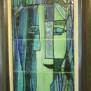 Harris Strong Cubist Ceramic Tile Plaque