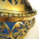 19thC FRENCH OPALINE GLASS JAR/GILT METAL SURROUND/EAGLE FINIAL