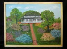 HELEN LAFRANCE/PLANTATION HOUSE/ SOUTHERN FOLK ART