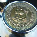 SILVER CIGARETTE JAR EX ESTATE OF PACKARD MOTORS EXEC JESSE G. VINCENT/AUTOMOTIVE MEMORABILIA