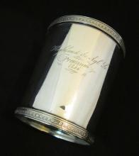 E.& D. KINSEY COIN SILVER AGRICULTURAL PREMIUM CUP 1856