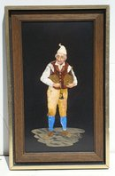 c.1850 PIETRA DURA STONE PAINTING/ITALIAN WINE MERCHANT/MOSAIC