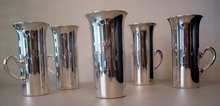 SILVER HUNT CUPS/SET OF 6 STERLING C. 1920 A.G. SCHULTZ BALTIMORE