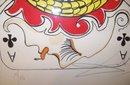 Salvador Dali/Ace of  Clubs Original Lithograph