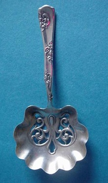 Roses & Scrolls Whiting Nut Spoon Sterling Silver