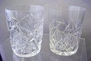 Cut Glass tumblers brilliant period