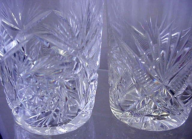 Cut Glass tumblers brilliant period